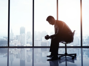 businessman sitting on a chair in office
