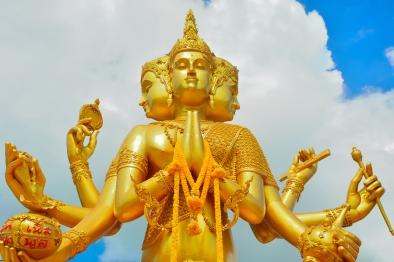 Indian God Of Brahma.
